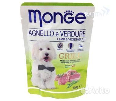 Monge DOG grill pouch паучи для собак ягн овощи. Ростовская область,  Ростов-на-Дону