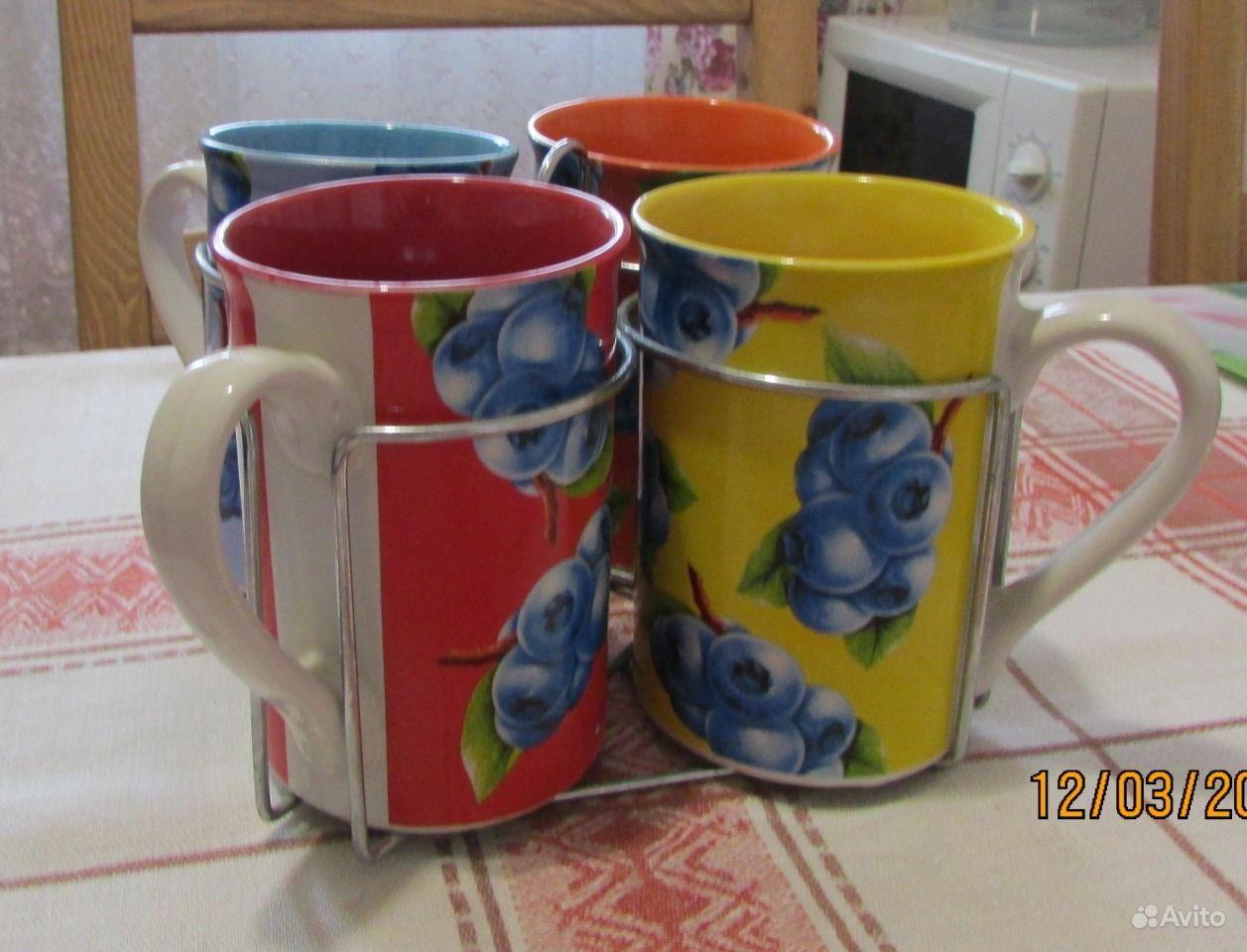 Набор разноцветных бокалов из керамики. Волгоградская область,  Волгоград