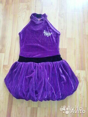 Платье для спортивных бальных танцев бархатное.  Санкт-Петербург