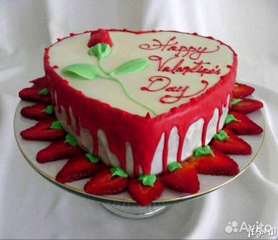 Торт на 14 февраля своими руками фото