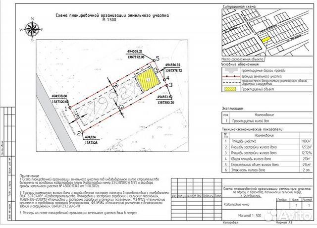 Схема планировочной организации земельного участка в туле