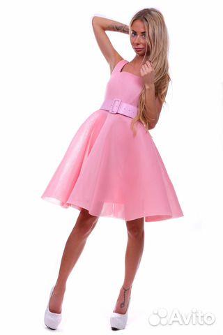 c11c76c380b801f Платье с пышной юбкой розовое с ремнем купить в Санкт-Петербурге на ...