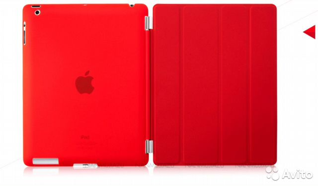 Чехол Cover Book Red для Apple iPad 2 3 4— фотография №1