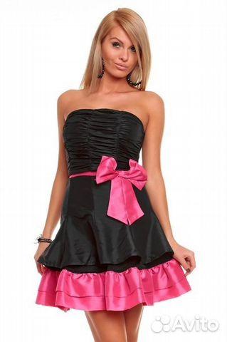 Черно розовые платья фото