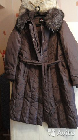e5d758daf9c Пуховик-пальто с воротником чернобурка