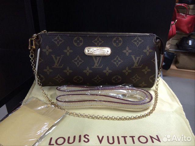 Женская сумка клатч Louis Vuitton Eva монограмма   Festima.Ru ... c14ea8d51d0