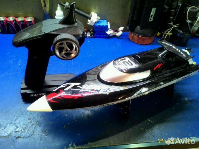 радиоуправляемая лодка из машинки