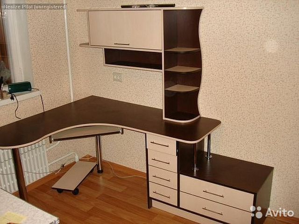 Стол угловой компьютерный с надстройками под заказ в запорож.