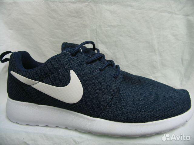 Кроссовки Nike Roshe Run Тем. Син. Бел. Под.41 803a95dc68c