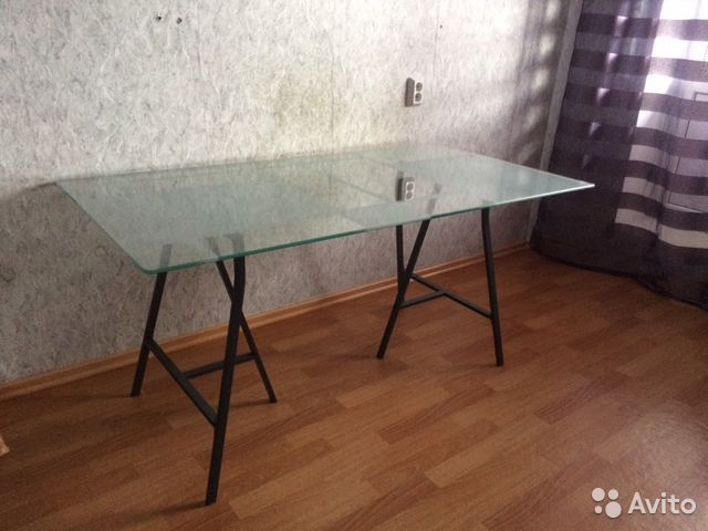 стол стеклянный Ikea 16080 см толщина 70 мм Festimaru