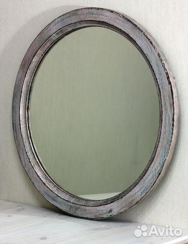 круглое зеркало из экзотического дерева Festimaru