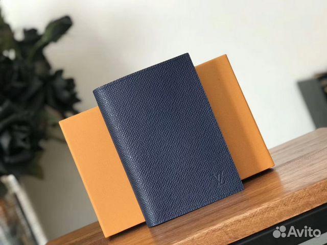 0bd90f1f7b8b Обложка синяя louis vuitton Passport Cover Taiga купить в Санкт ...