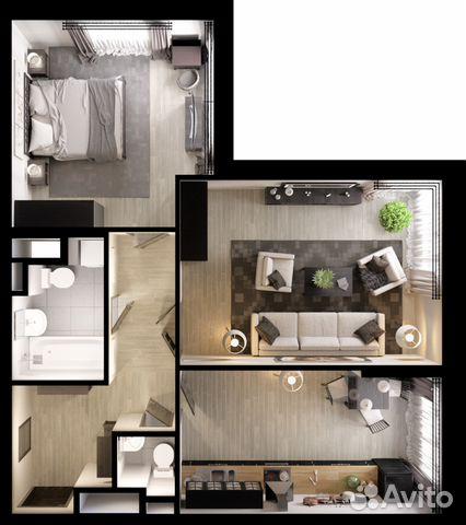 2-к квартира, 71 м², 1/6 эт.