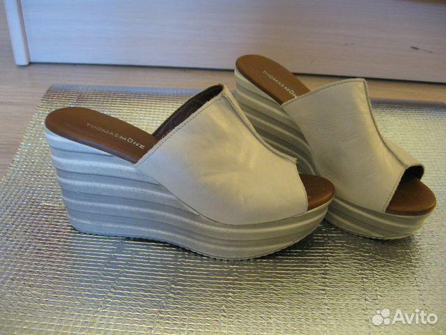 Новые кожаные Сабо Thomas Munz 89502260796 купить 1