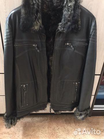 d1fde0c2b7d Мужская зимняя кожаная куртка на меху
