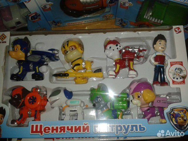 Щенячий патруль игрушки купить авито москва