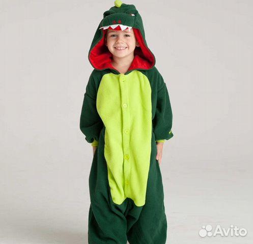 Кигуруми динозавр зеленый на рост 120-140 см  68c98b06ab4c7