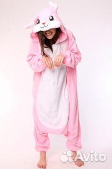 Розовый кролик пижама кигуруми  250eabf8a3b94