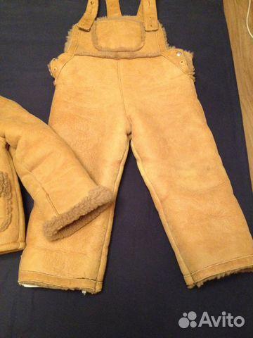 Дубленка детская (куртка и полукомбез) 89272759900 купить 3