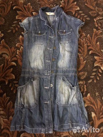 Куртка джинсовая, кардиган и платья купить 9