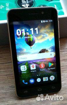 Smartphone dexp b140 guld