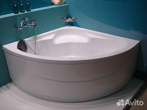 Большая угловая ванна из толстого акрила