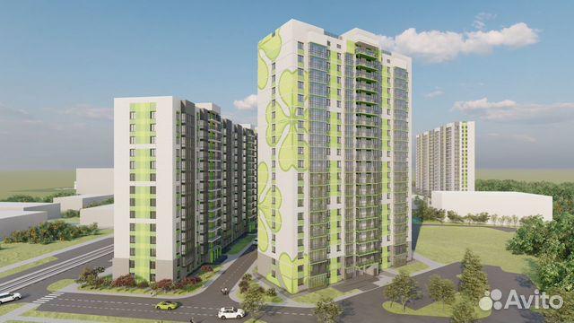 2-room apartment, 45.5 m2, 8/16 FL. 89132100033 buy 1