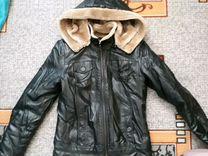 Куртка еврозима, холодная осень из эко кожи