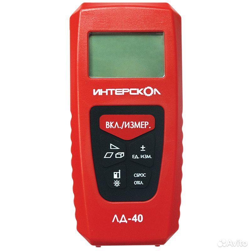 89124002166  Дальномер лазерный интерскол лд-40