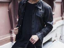 Куртка мужская из натуральной кожи питона С.43