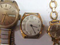 Часы наручные с позолотой AU 10 луч.заря.слава