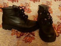 Ботинки кожаные, для девочки. 35 размер