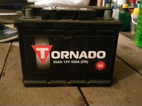 Аккумулятор tornado 55Ah 12V 420A