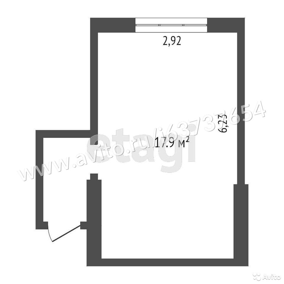 Комната 17.9 м² в 4-к, 2/4 эт.  купить 9