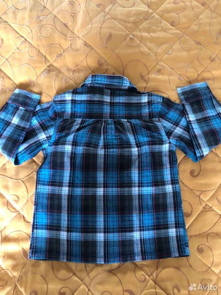 Рубашка темно-синяя 104 см (3-4г)