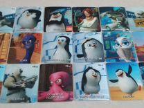 Карточки 3D Пингвины Мадагаскара из Магнита