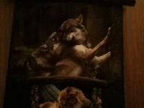 Волк часы картина