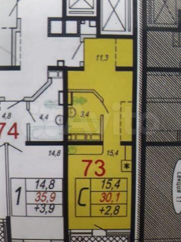 1-к. квартира, 32,2м², 6/16эт.