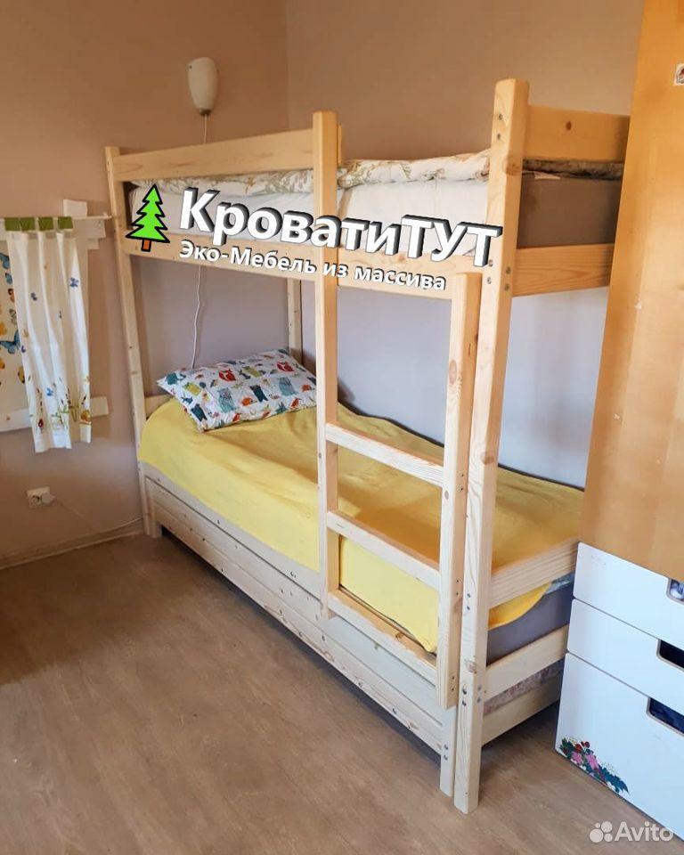 Кровать Двухъярусная Домик Чердак из массива сосны  89061701070 купить 8