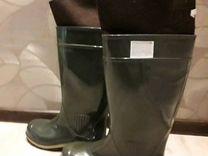 Новые Сапоги резиновые р. 45 с внутренним носком