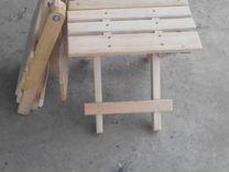 Стульчик складной деревянный