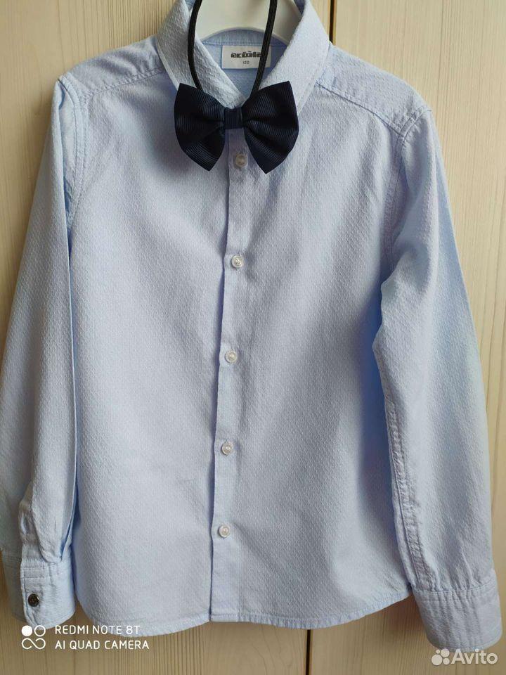 Рубашка голубая на рост 122см  89065035959 купить 6